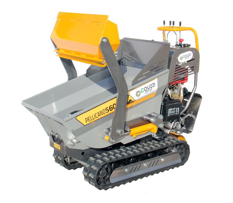 motocarriola cingolata per l'edilizia e l'agricoltura